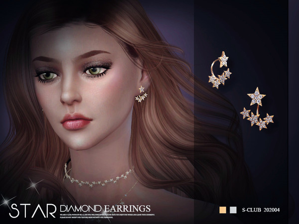 Sims 4 EARRINGS 202004 by S Club LL at TSR
