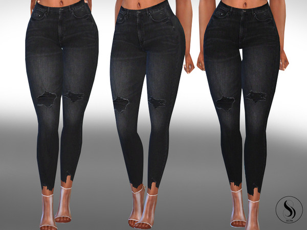 Female Cropped Dark Jeans by Saliwa at TSR image 395 Sims 4 Updates