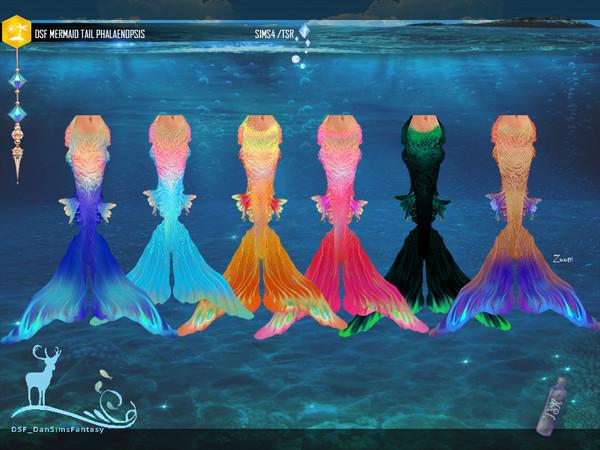 Sims 4 DSF MERMAID TAIL PHALAENOPSIS by DanSimsFantasy at TSR