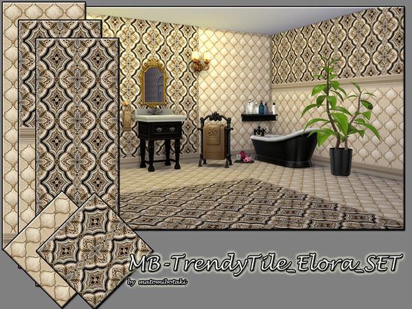 Sims 4 MB Trendy Tile Elora SET by matomibotaki at TSR