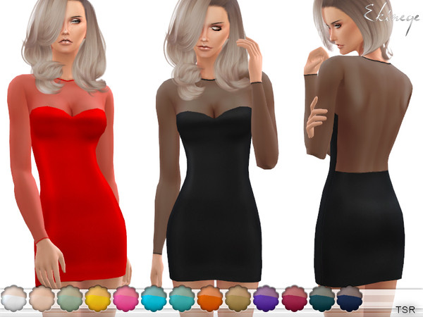 Bodycon Mesh Dress by ekinege at TSR image 4112 Sims 4 Updates