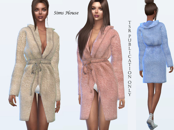 Womens terry bathrobe by Sims House at TSR image 4211 Sims 4 Updates
