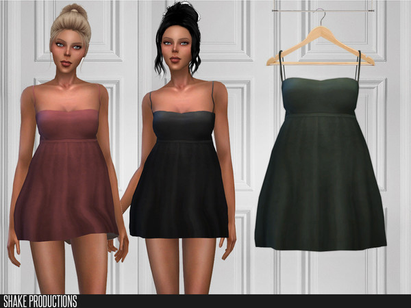 377 Short Dress by ShakeProductions at TSR image 4213 Sims 4 Updates