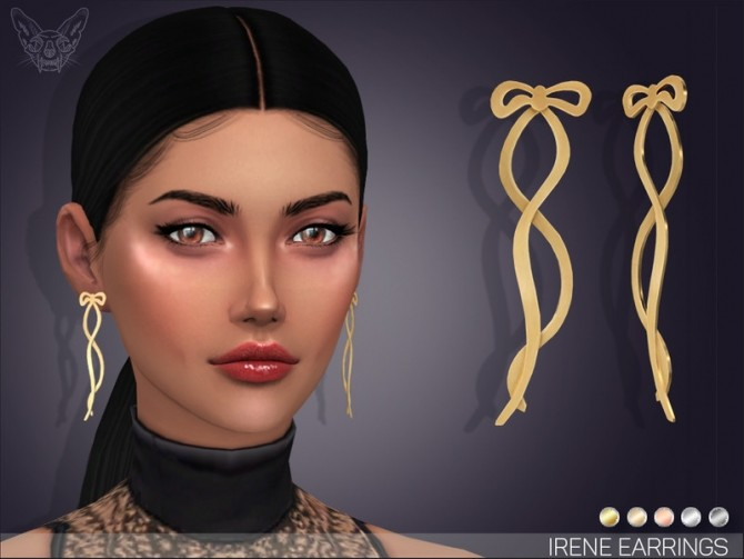 Sims 4 Irene Earrings by feyona at TSR