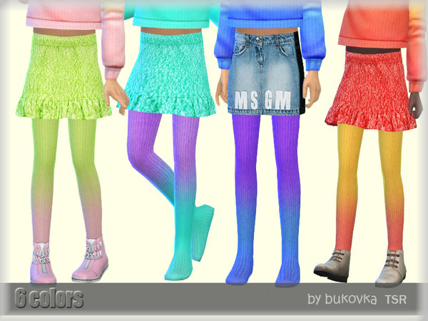 Sims 4 Tights Gradient by bukovka at TSR
