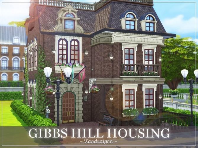 Sims 4 Gibbs Hill Housing by Xandralynn at TSR