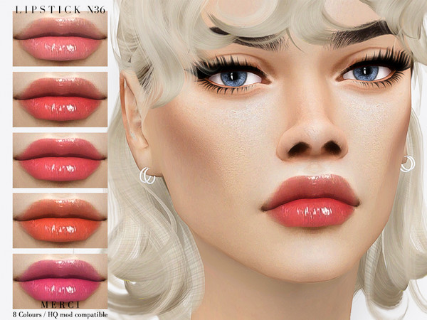 Sims 4 Lipstick N36 by Merci at TSR