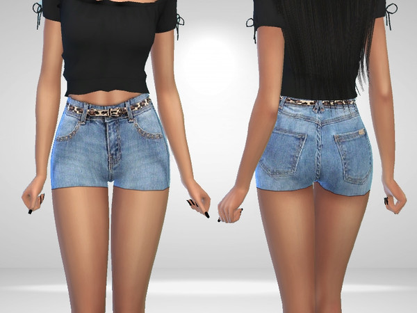 Sims 4 Monica Shorts by Puresim at TSR