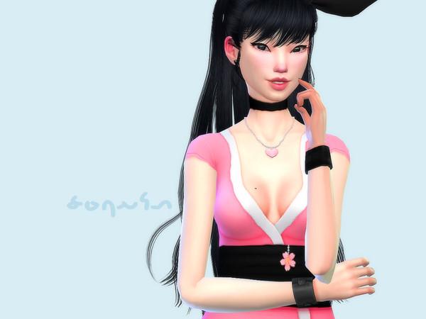 Sims 4 Sakura Kimono by Saruin at TSR