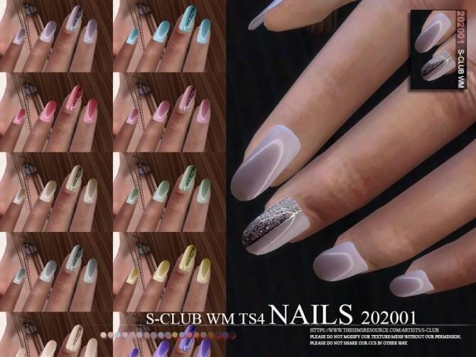 Sims 4 Nails 202001 by S Club WM at TSR