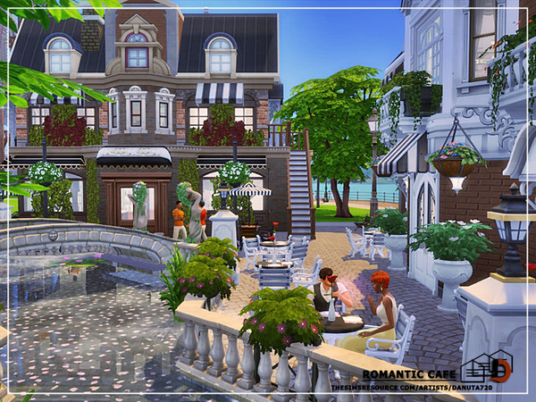 Sims 4 Romantic Cafe by Danuta720 at TSR