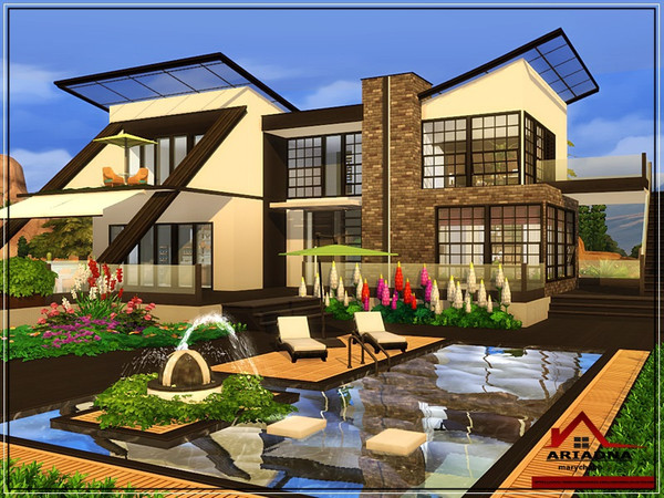 Ariadna modern house No CC by marychabb at TSR image 4514 Sims 4 Updates