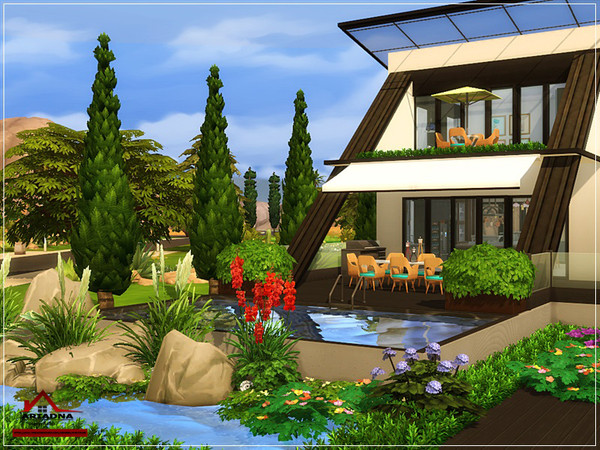 Ariadna modern house No CC by marychabb at TSR image 4614 Sims 4 Updates