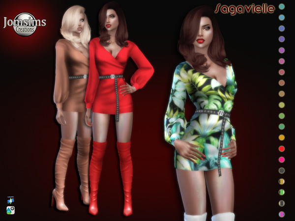 Sagavielle dress by jomsims at TSR image 4616 Sims 4 Updates