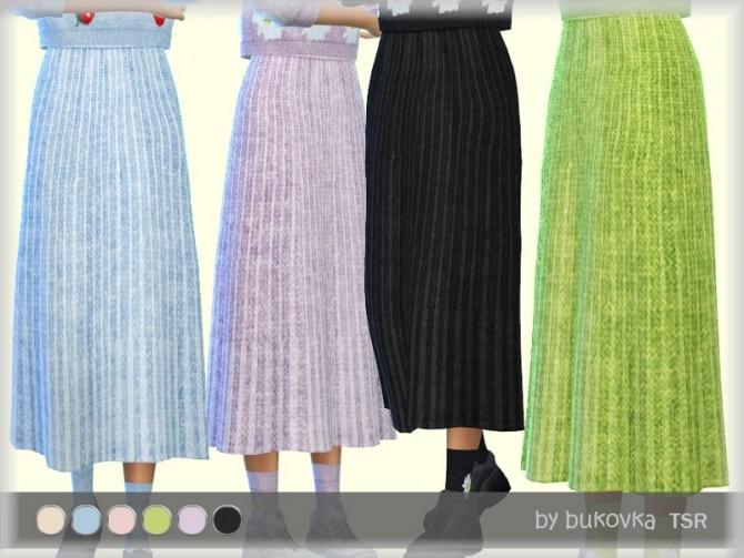 Sims 4 Skirt Knitted by bukovka at TSR