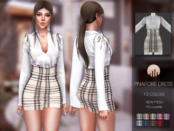 Sims 4 Pinafore Dress BD190 by busra tr at TSR