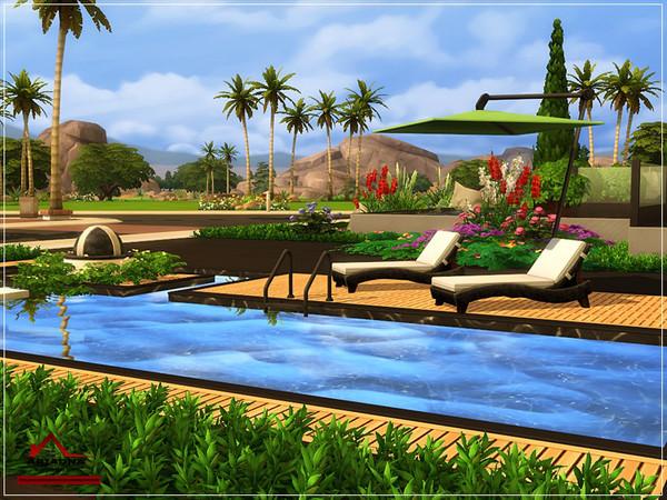 Sims 4 Ariadna modern house No CC by marychabb at TSR