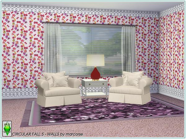 Sims 4 Circular Fall Walls by marcorse at TSR