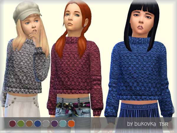 Sims 4 Textured sweater by bukovka at TSR