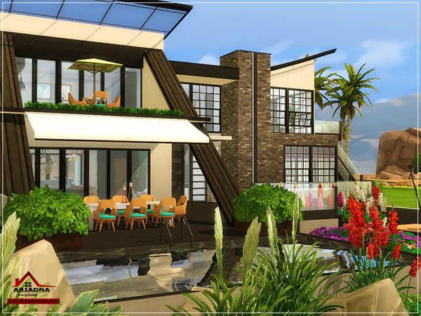 Ariadna modern house No CC by marychabb at TSR image 4812 Sims 4 Updates