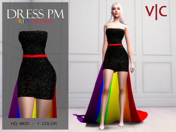 Sims 4 DRESS PRIDEMONTH I by Viy Sims at TSR