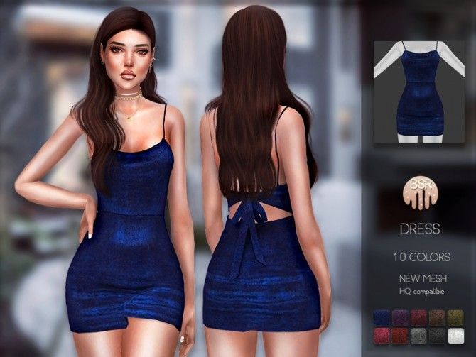 Sims 4 Dress BD195 by busra tr at TSR