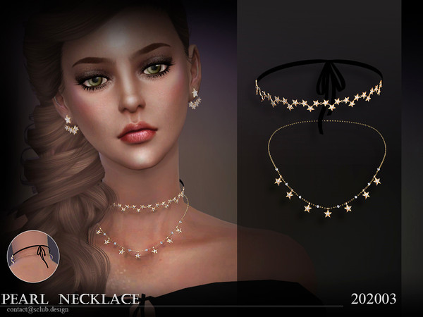 Sims 4 Necklace 202003 by S Club LL at TSR