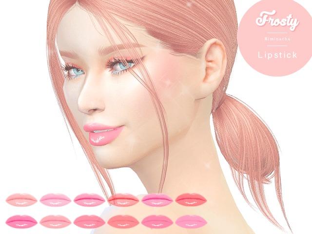 Sims 4 Frosty Lipstick at Kiminachu CC