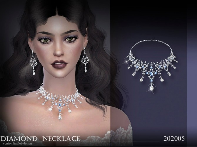 Sims 4 Necklace 202005 by S Club LL at TSR