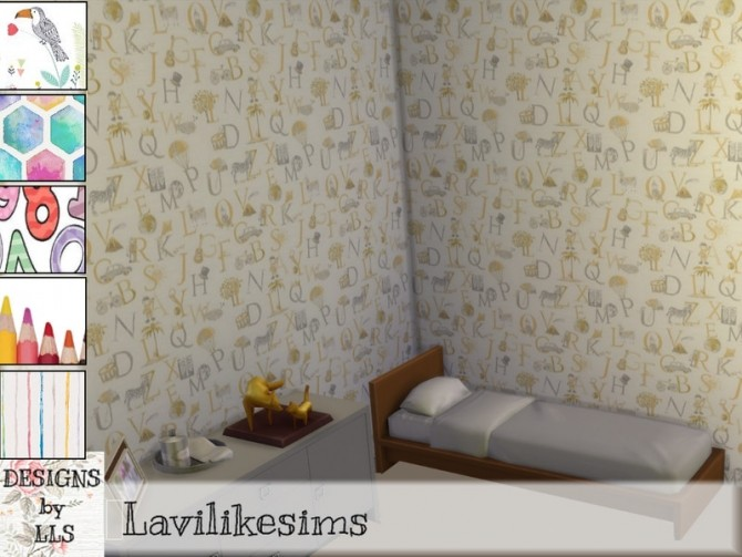 Sims 4 Walls for kids by lavilikesims at TSR