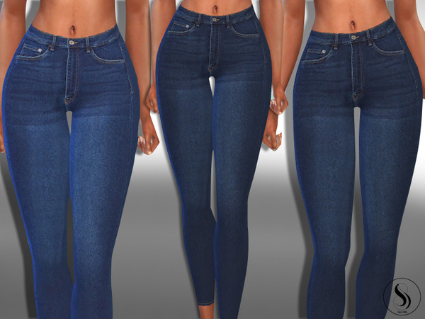 Female Dark Blue Skinny True Jeans by Saliwa at TSR image 5111 Sims 4 Updates