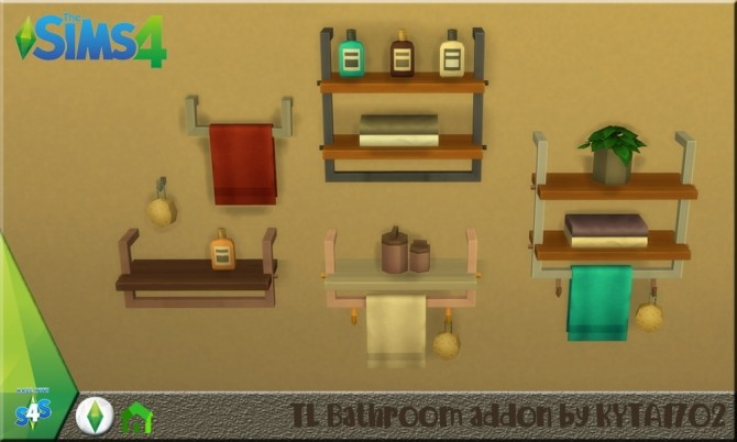Tiny living bathroom addon at Simmetje Sims image 5116 670x402 Sims 4 Updates