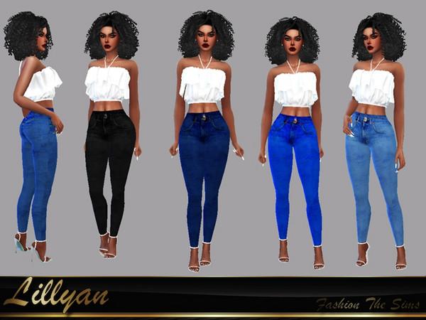 Sims 4 Roberta Jeans by LYLLYAN at TSR