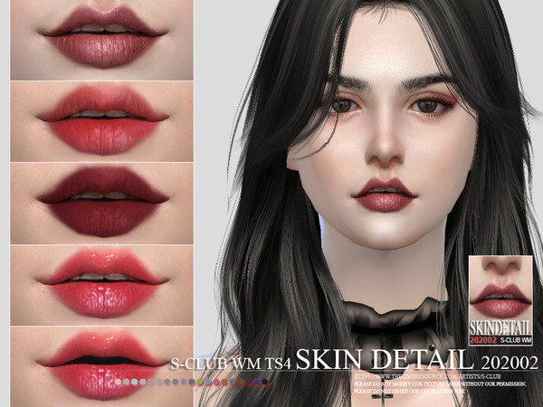 Sims 4 Teeth Skin Detail 202002 by S Club WM at TSR