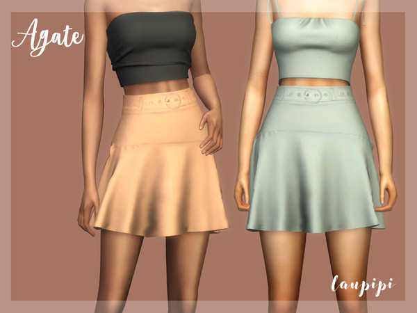 Sims 4 Agate Skirt by laupipi at TSR