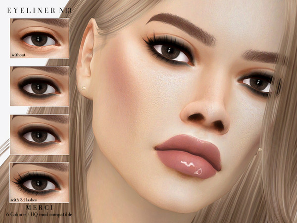 Sims 4 Eyeliner N13 by Merci at TSR