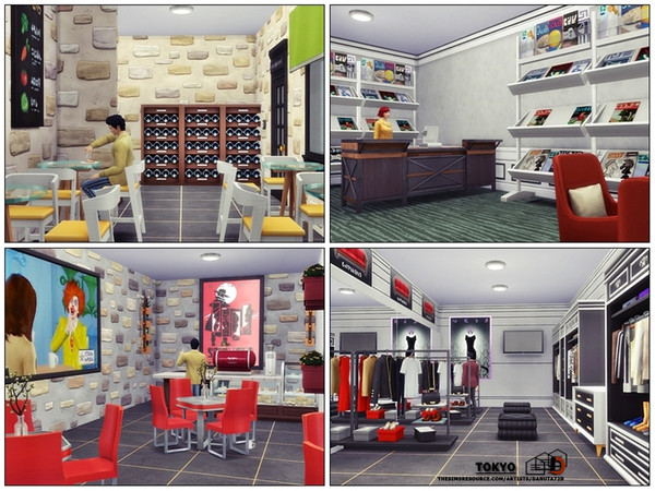 Sims 4 Tokyo Apartments (residential house) by Danuta720 at TSR