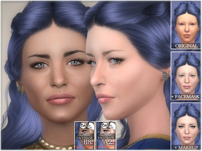 Sims 4 Claire facemask by BAkalia at TSR