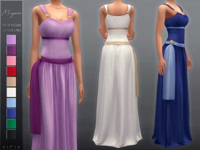 Sims 4 Megara Dress by Sifix at TSR