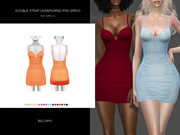 Double Strap Underwired Mini Dress by Bill Sims at TSR image 5315 Sims 4 Updates