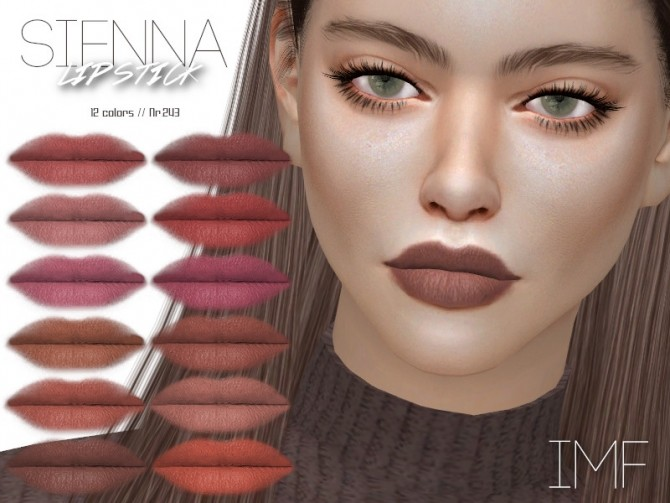Sims 4 IMF Sienna Lipstick N.243 by IzzieMcFire at TSR