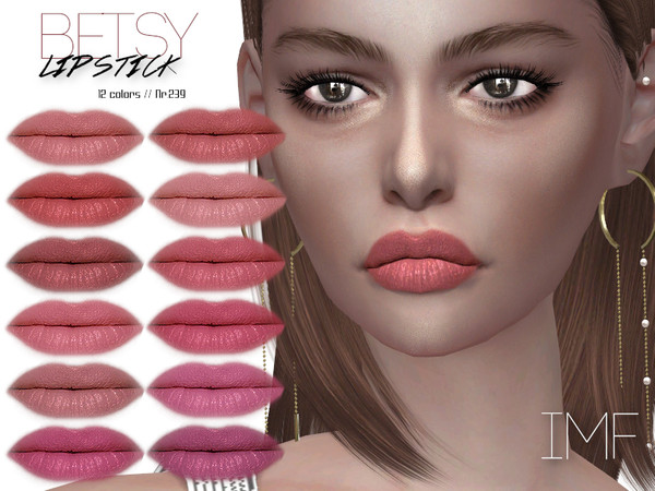 Sims 4 IMF Betsy Lipstick N.239 by IzzieMcFire at TSR