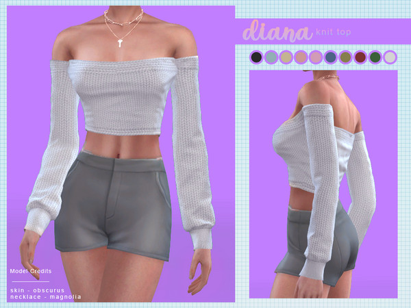 Sims 4 Diana Knit Top by Screaming Mustard at TSR