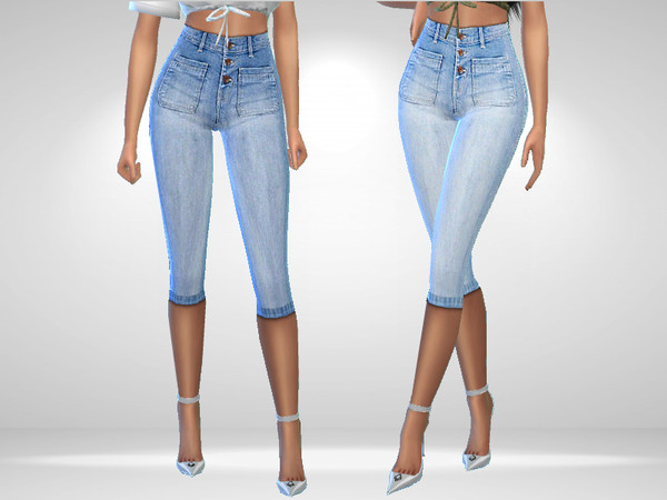 Cropped Jeans by Puresim at TSR image 535 Sims 4 Updates