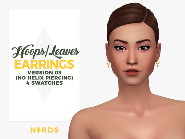 Hoops & Leaves Earrings V3 by Nords at TSR image 541 Sims 4 Updates
