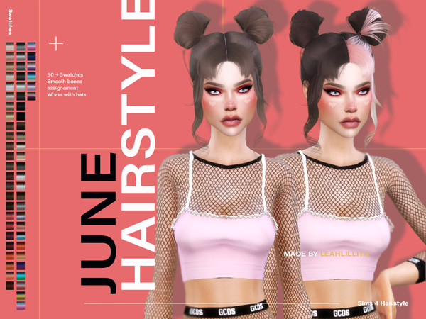 June Hairstyle by LeahLillith at TSR image 5415 Sims 4 Updates