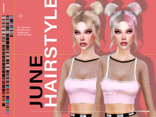Sims 4 June Hairstyle by LeahLillith at TSR