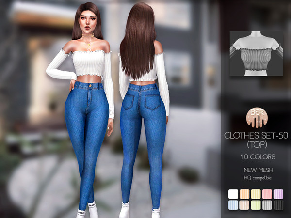 Clothes SET 50 TOP BD192 by busra tr at TSR image 5516 Sims 4 Updates