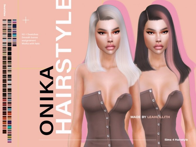 Sims 4 Onika Hairstyle by Leah Lillith at TSR