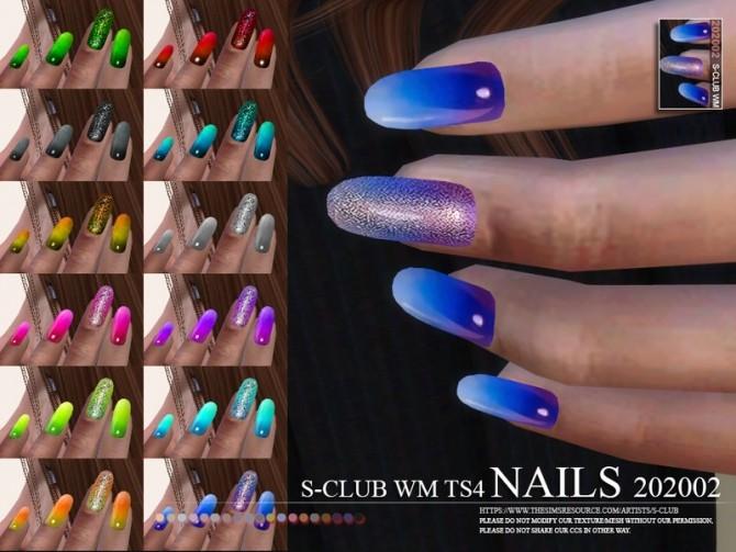Sims 4 Nails 202002 by S Club WM at TSR